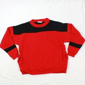 90's Dunlop Sport Panel Sweatshirt Adult Large Red